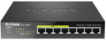 D-LINK DGS‑1008P 8‑Port Gigabit PoE Unmanaged Desktop Switch