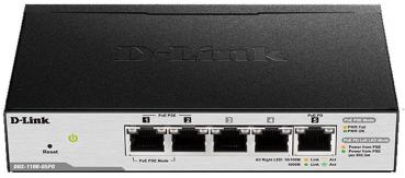D-LINK DGS-1100-05PD 5-Port Gigabit-LAN, PoE, Smart Managed, Auto Surveillance