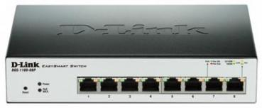 D-LINK DGS-1100-08P 8-Port Gigabit-LAN, PoE, Smart Managed, Auto Surveillance