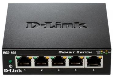 D-LINK DGS‑105 5‑Port Layer2 Gigabit Switch