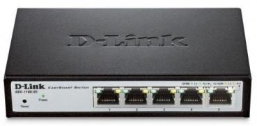 D-LINK DGS-1100-05/E 5-Port Gigabit Smart Managed Switches