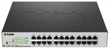 D-Link DGS-1100-24P 24-Port Gigabit-LAN, 12-Port PoE+, Smart Managed