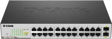D-LINK DGS-1100-26MP 24-Port Gigabit-LAN PoE+, 2-Port SFP PoE+, Smart Managed