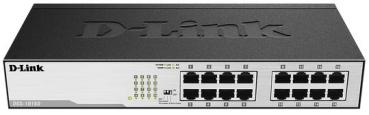 D-LINK DGS‑1016D 16‑Port Gigabit Switch RJ‑45, Auto Uplink ‑ Desktop