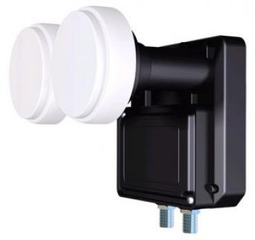 Inverto Monoblock 23mm LNB 6° für 80cm Antenne Twin LNB 0.2dB 40mm Adapter Hotbird-Astra